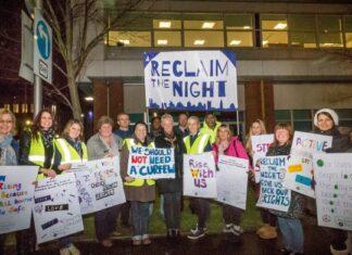 Reclaim the night protest