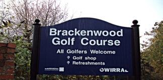 Sign of Brackenwood Golf Course