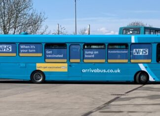 COVID vaccination bus