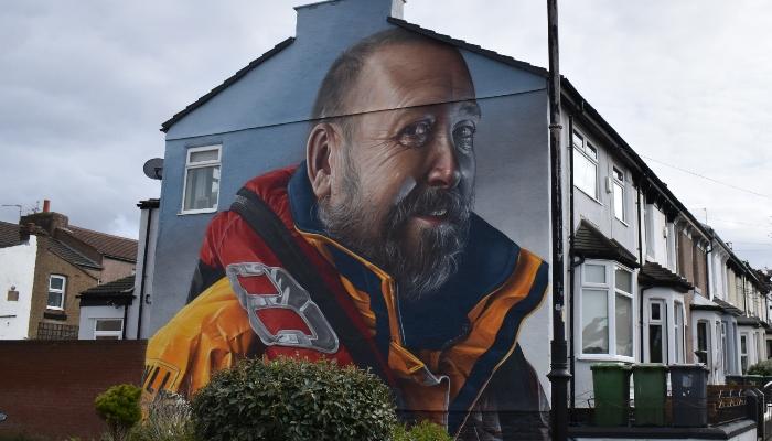 RNLI Mural in New Brighton
