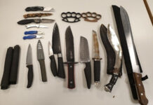 Picture of Knives confiscated by Merseyside Police in Kirkby